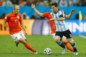 Fußball Legende Messi & Robben